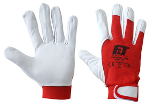 F&Τ LEATHER GLOVES WITH VELCRO 0786