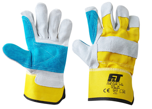 F&T DOUBLE PALM LEATHER GLOVES 0788